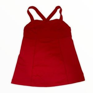 Lululemon Red X Back Built In Workout Tank top